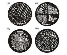Stempelplaten voor Nagels