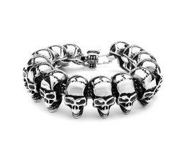 Stoere Skull-Armband