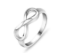 Zilveren Infinity Ring van 925 Sterling Zilver