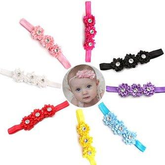 Haarband Met Bloemen Voor Baby's