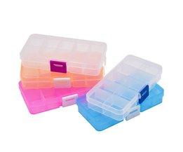 1 stks Plastic 10 Slots Elektronische Onderdelen Schroeven Noten SMD Sieraden Kralen Opbergdoos Reparatie Tool Box Case Craft Organizer Container Rumble