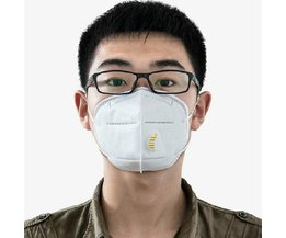 5 Stks Stofmaskers Bescherming Gezicht Voorkomen Mist Haze Pm2.5 Mond Maskers Met Uitademventiel MayRecords
