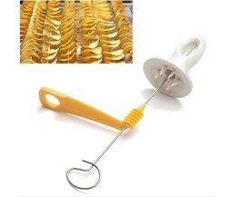 1 Set Rvs Tornado Potato Spiral Cutter Slicer Spiraal Chips Maken Twist Shredder RLJLIVES