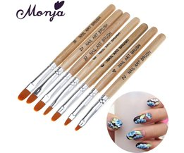 7 Size Nail Art Ronde Top Kwast Set Acryl Gel Polish Builder Extension Coating 3D Daisy Rose Bloemblaadje DIY Draw Pen Monja