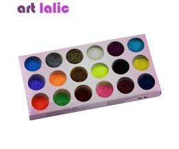18 Kleuren Nail Art Glitter Poeder Stof Decoratie kit Voor Acryl Tips UV Gel DIY Drop Verzending Groothandel Nail Glitter Art lalic