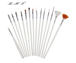 15 Stks Nail Art Brush Puntjes Schilderen Nagels Pen Nail Brush Decoraties Set Gereedschap Voor Valse Tekening Gel Polish Borstels STIPPEN LKE