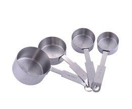 4 stks 4 size Maatbekers Maatlepel Keuken Gereedschap Meten Set Gereedschap Voor Bakken Koffie Thee AIHOME