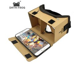 Virtual Reality Bril Google Kartonnen Bril 3D Bril VR Box Films voor iPhone 5 6 7 SmartPhones VR Headset DATA FROG