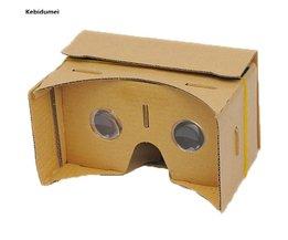 """Kebidumei DIY Google Kartonnen 3D VR Doos Reality Bril VR Mobiele Telefoon 3D voor 5.0 """"Screen Google VR 3D Films Games kebidumei"""