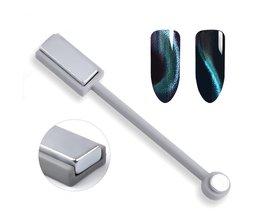 Modelones 1 Stks Dubbele Hoofd 3D Magneet Stok Voor UV Magneet Gel Polish DIY Nail Art Magic Kat Ogen Effect Nail Gereedschap modelones
