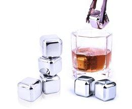 5 stks/partijWhiskey rvs Stenen Whisky ijs koeler voor Whisky bier Bar huishoudelijke Huwelijkscadeau Gunst Kerst GIZILI