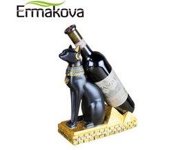 Hars Egyptische Kat Wijnrek Bestet Wijnfles Houder Dier Egyptische Godin Wijn Stand Accessoires Thuis Bar Decor Ermakova