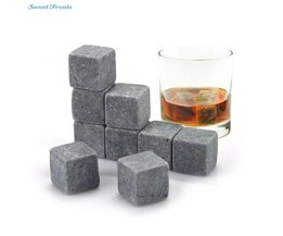 Whiskey Stones Herbruikbare Ice Steen Koelen Rotsen Cubes in Geschenkdoos met Draagtas Set van 9 voor Whiskey Bourbon sweettreats