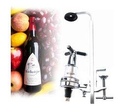 Tafel Gemonteerd Wijn Bar Butler Met Enkele Optic 25 ml Rotary 1 SAlcohol Dispenser Wijn Stand Arts Ontwerp BESTOMZ