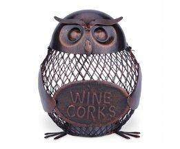 Tooarts Wijnrek Uil mesh Creatieve wijnfles houder Uil Fles kurk container Iron art decoratie Fantastische Sculptuur homgeek