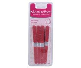 40 stks Manicure Nail Art Buffer Schuren Nagelvijlen Hout Crescent Schuurpapier Grit Manicure Apparaat Nail Art Tool Blue ZOO