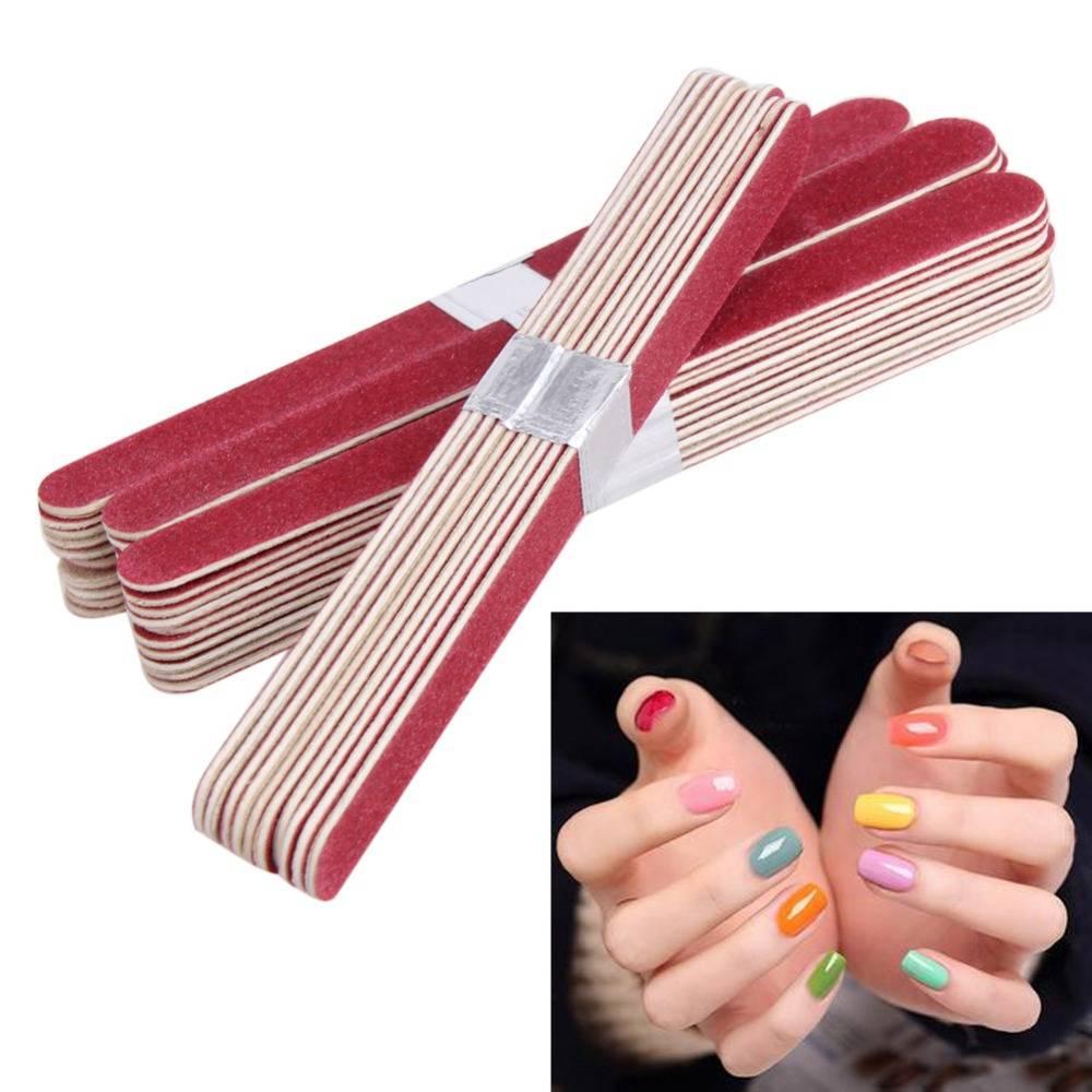 40 Stks Manicure Nail Art Buffer Schuren Nagelvijlen Hout Crescent