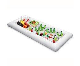 134x64 cm PVC Opblaasbare Water Speelgoed Infltable Buffet & Salade Ijs Lade Voedsel Koeler Bekerhouder Fun Zwembad drijft Zwemmen Float Marry Brother
