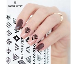 2 Patronen/Vel GEBOREN PRETTY Driehoek Diamant Vorm Nail Art Water Decals Transfer Sticker BPY05 Born Pretty