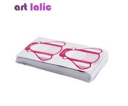 100 Stks Nail  Tips Uitbreiding Forms Gids Franse Rose DIY Tool Acryl UV Gel papier Art lalic