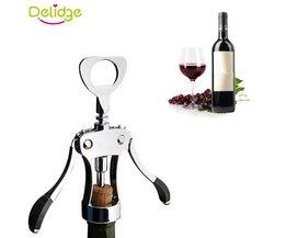 Delidge 1 st Rode Wijn Opener Metalen Wijnfles Corkscrew Plated Staal Wing Getypt Wijn Opener Bar Tool delidge