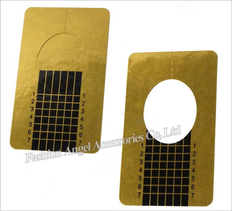 Nail Art Guide Vorm Sticker 500 Stksroll Vierkante Papier Gouden