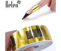 100 Stks Franse Tips Nail Vormen Gel Polish Uitbreiding Formulieren Acryl Tips Nail Art Decoratie DIY Nail Gel Krul Formulieren Nail Stickers Belen