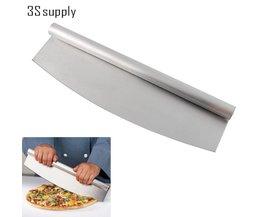 "14 ""Professionele Pizza Slicer Rocker Mes Pizzasnijder Rocker Mes Keuken Koken Accessoires Bakvormen upspirit"