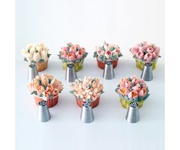 7 Stks/set Russische Nozzles Tulp Tips Icing Piping Nozzles Pastry Decorating Tips Set Cake Cupcake Decorateur BEIGUAN