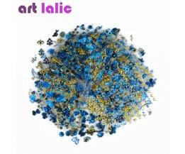 24 Stks/partij 3D Nail Sticker Boom Blad Vlinder Flora Patroon Stempelen Charms Bronzing Blauw Goud Zilver Nail Art Decal Art lalic