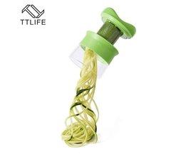 Fruit Plantaardige Spiralizer Spiraal Keuken Gadgets Groente Slicer Shredders Peeler Cutter Wortel Rasp Keuken Accessoires TTLIFE