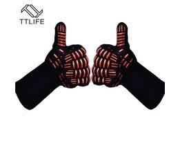 Ovenwanten Handschoenen BBQ Grillen Koken Handschoenen-932F Extreme Hittebestendige Handschoenen Lange Voor Extra Onderarm Bescherming TTLIFE