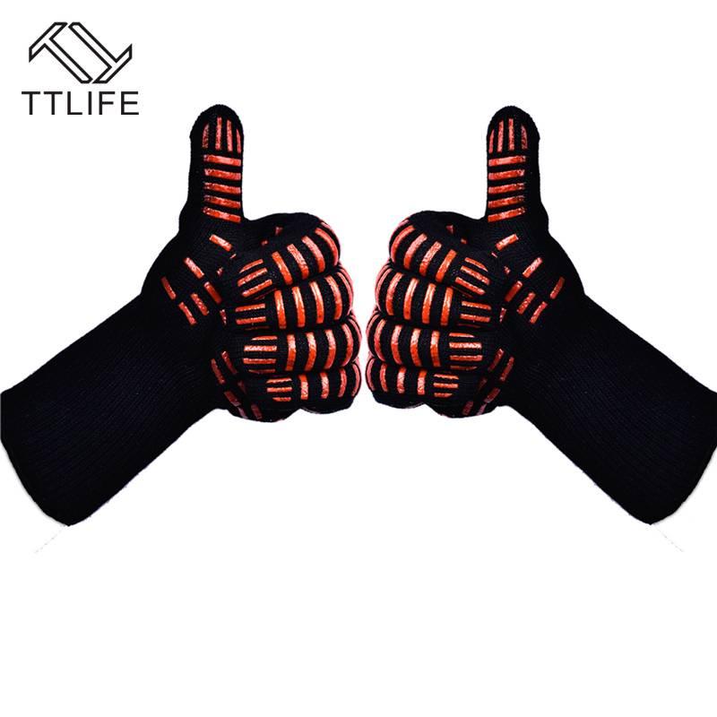TTLIFE Ovenwanten Handschoenen BBQ Grillen Koken Handschoenen-932F Extreme Hittebestendige Handschoe
