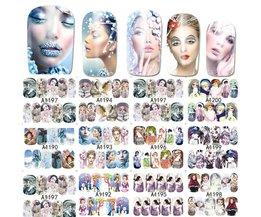 12 Ontwerpen Cartoon Meisjes Nail Art Water Transfer Sticker Volledige Wraps Winter Vrouwen Gemengde Decals Nail Tips Decoratie LAA1189-1200 SWEET TREND