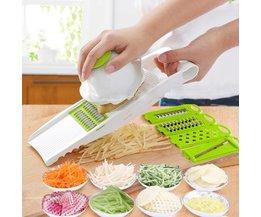 Multi Aardappel Snijmachine Groenten Cutter met 5 Rvs Blade Wortel Rasp Ui Slicer Keuken Accessoires OUOH