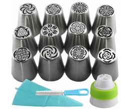 15 Stks Rvs Russische Icing Piping Nozzles Pastry Tips Cake Decorating Cupcake Dessert Bakken Tools SL37 Mujiang