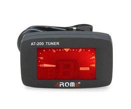 AROMA AT-200 Clip on Tuner voor Gitaar, Bass, Ukelele of Viool