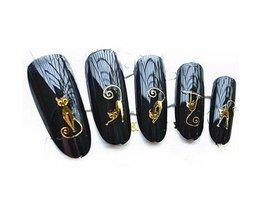 1 sheets Gold Kat3d Ontwerpen Leuke DIY WaterTips Nail Art Stickers Nail Decals Manicure Styling gereedschap SWEET TREND