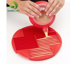 Zelfgemaakte non-stick Siliconen Stick Pan Chocolade Cookie Biscuit Bar Mold Om 30 Sticks In 5 Minuten DIY Cake Decorating gereedschap sunglory