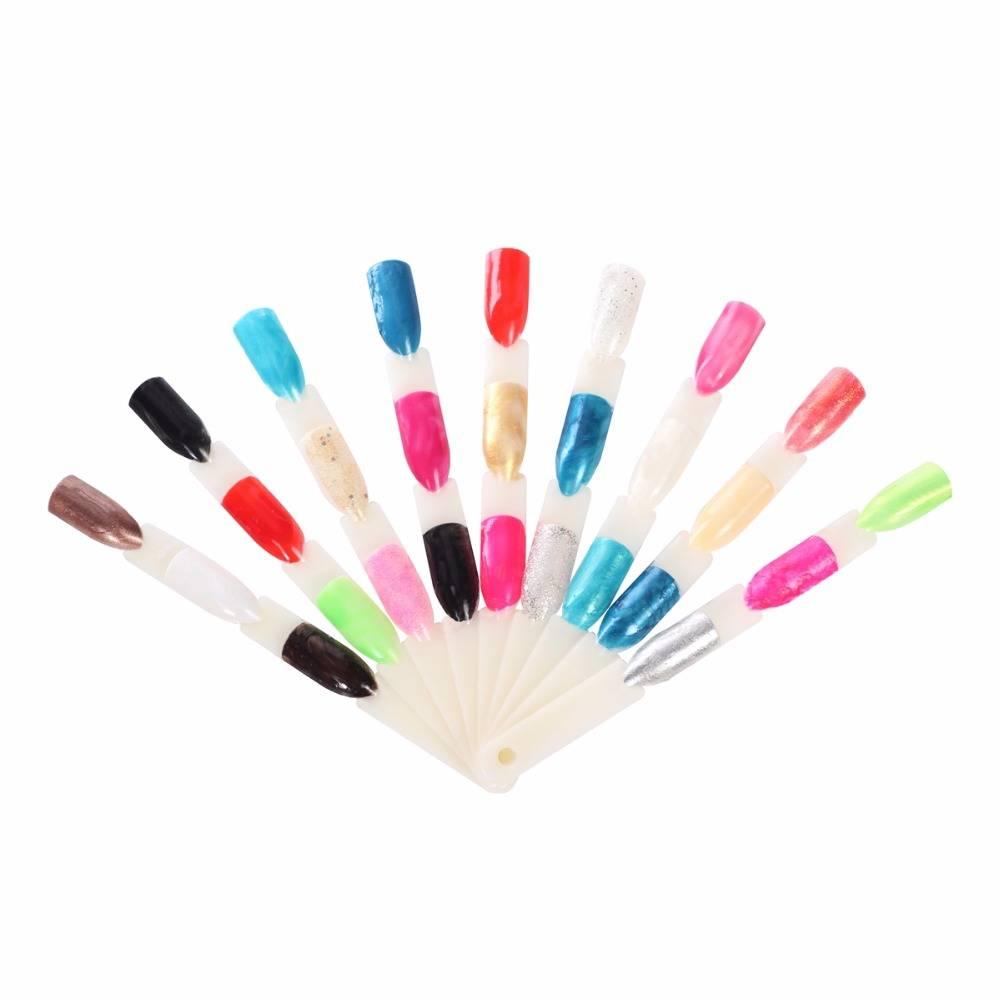 150 Tips 3 Knopen Nail Art Display Natuurlijke Grafiek Kleur Sample