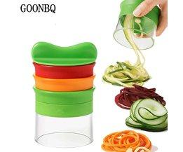 1 st 5 Lagen Spiral Groente Rasp ABS + Rvs Wortel Komkommer Slicer Groente Fruit Spiral Blade Cutter Tool GOONBQ