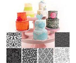 6 STKS Bloemen Textuur Sheet Set Suiker Ambacht Textuur Mat Voor Cookie Cupcake Fondant Cakevorm Bakken Gereedschap Voor broodjes sunglory