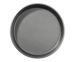 Carbon Staal Pizza Taart Plaat Non-stick Pannen DIY Bakvormen Schimmel Bakken Tool Party DIY Keuken Gereedschap 26*4 cm YKPuii