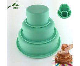 3 Stks/set Bakken & Pannen 3 Lagen Ronde Cake Pan, Thuis Bakvormen De Cakevorm Bakvormen Siliconen Mal 8,6, 3 Inch