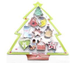 10 Stks Bakvormen Mould Kerst Cookies Cutter Biscuit Schimmel Set Suiker Arts Fondant Taart Decoratie Gereedschappen BAKMAS