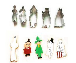 5 Stks/sets Finland Fairy Moomin Cookie Cutters 3D Staal Biscuit Sugarcraft Cake Decorating Gereedschap BAKMAS