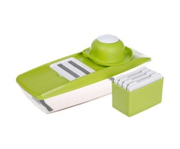 Mandoline Slicer Handleiding Plantaardige Cutter met 5 Blades Multifunctionele Groentesnijder Aardappel Ui Slicer Keuken Accessoires  Lekoch