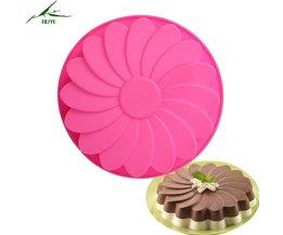 1 st 9 inch huishoudelijke diy bloemen ronde zonnebloem flower siliconen mal voor fondant gebak brood cake bakken bakvormen mould SAFEBET