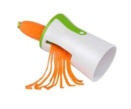 Keuken Spiral Trechter Groente Rasp ABS + Rvs Wortel Komkommer Slicer Chopper Groente Spiraal Blade Cutter CA1T VKTECH