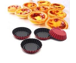 8 stks/set taartvorm chrysant cup fruit taartjes schimmel fruit pie pan cakevorm non-stick pan Leeseph